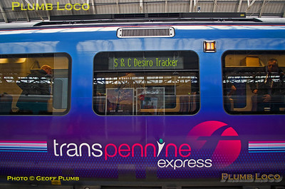 BLS S&C Desiro Tracker, Destination Display, Manchester Piccadilly, 19th April 2015