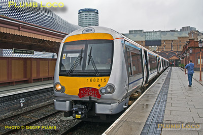 168 215, BLS Semaphore & Sidings Tracker, Birmingham Moor Street, Platform 3, 2nd August 2014