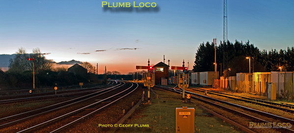 General View, Banbury South at dawn, 10th December 2014