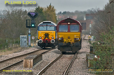 57308  & 66080, Greenford South Junction, 25th February 2014
