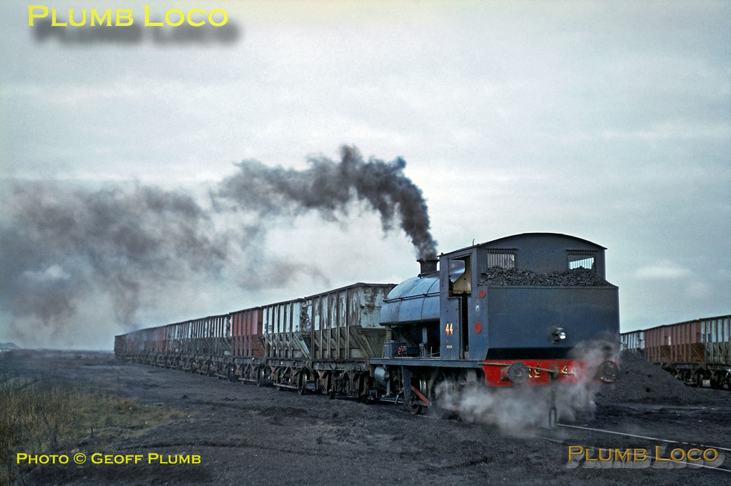 NCB 0-6-0ST No. 44, Earsdon Sidings, Backworth, March 1969