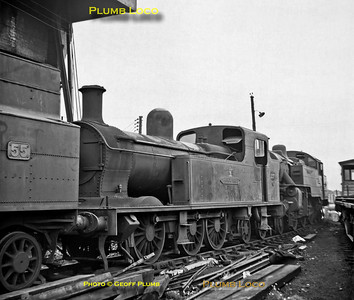 "SLNCR No. 27 ""Lough Erne"", Belfast York Road MPD, September 1968"