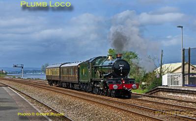 """5043 """"Earl of Mount Edcumbe"""", Dawlish Warren, 5Z48, 9th May 2014"""