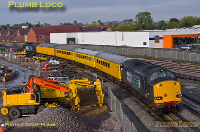 37604 & 37605, Bicester Gavray Junction, 1Q05, 6th October 2015
